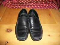 Hugo Boss black leather casual shoes size 10