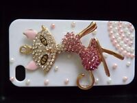 Skinnydip limited edition Iphone 4/4S case and screen protector Bling Cat RP £15 NEW