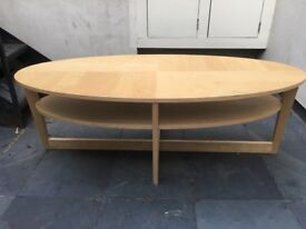 Mordern coffee table round oval