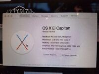 Apple Macbook Pro 8gb Ram and 750gb Hd with 2.9ghz intel I7