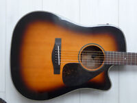 Yamaha DWX-7C electro acoustic. Solid Engleman Spruce top, rosewood back and sides.