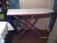 IRONING BOARD In the TRADITIONAL STYLE WOODEN CONSTRUCTION , IN PERFECT CONDITION ++++