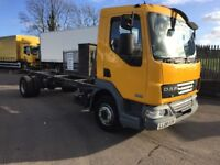 2008 Daf lf 45 160 12 ton GVW 18 ft chassis cab