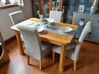 Dining Room Table & Four Chairs