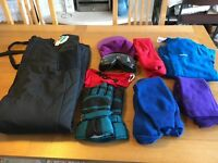 Mens Salopettes and Skiing Accessory Bundle