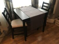 IKEA LERHAMN Table and Chairs Dinning Set for 2