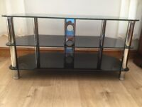 Large glass tv stand suiterable for 50 inch tv