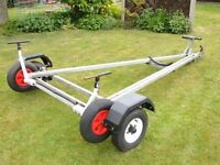 Boat combination road/launch trolley for 14' dinghy