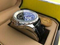 New Swiss Breitling Tourbillon Automatic Watch, LEATHER STRAP