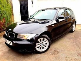 **STUNNING** 2010 BMW 116D ES 2.0 DIESEL 5 DOOR BLACK 6 SPEED MANUAL £30 TAX