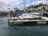 Sarum 28, Aluminium sailing boat