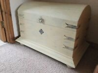 Upcycled solid pine blanket box/ storage chest