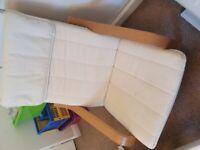 Ikea Poang chair cream oak veneer