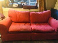 Triple Red Sofa