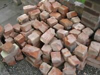 HALF SIZED SECOND HAND BRICKS , IDEAL FOR SHED BASES , FOUNDATIONS,
