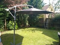3m cantilevered parasol sun shade for patio grey