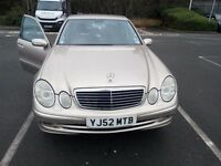 Travertine Silver(Gold) Mercedes E320 CDI Avantgarde 3.2L Diesel,Auto, Black Leather interior.