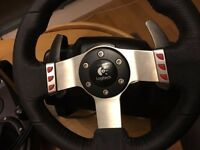 Logitech G27 & Wheel Stand Pro Racing Force Feedback Steering Wheel PS3 PS4 PC