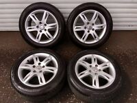 16'' GENUINE SEAT LEON MK2 ECOMOTIVE ALLOY WHEELS TYRES 5X112 CUPA ALTEA ALHAMBRA TOLEDO CADDY GOLF