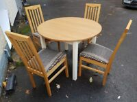 Round Dining Table And 4 Chairs FREE Delivery In Derby