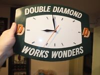 Vintage Double Diamond Brewery Battery Advertising Wall Clock