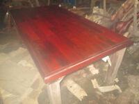 Rustic, mahogany table