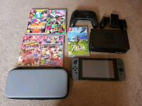 Nintendo Switch with 5+ games and Pro controller
