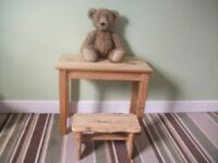 Table / Child's Pine Table and Stool