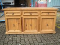 Mexican wide sideboard solid wood cabinet unit