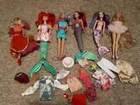 Job Lot of Barbies & Sindy with Clothing