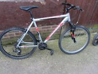 mens ammaco mountain bike with lock £45.00