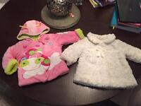 Baby girl Coats 3 and 3-6 months