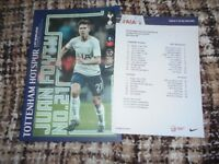 Spurs v Wimbledon FA Cup 3rd Round, 7-1-2018, mint condition football programme