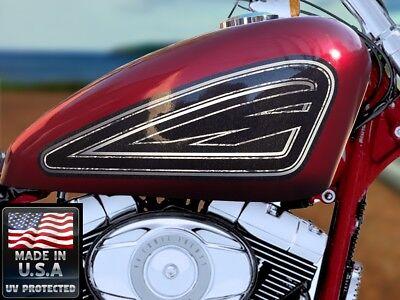 Old School Black - 2pc Tank panel decal set Harley Davidson Sportser 883 1200 48