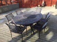 Wrought Iron 6 Seater Patio Diner Set