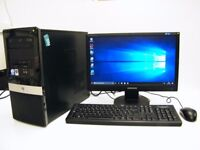 "Budget Windows 10 Microtower PC System with 19"" Monitor, Keyboard & Mouse, Office 2007 & Antivirus"