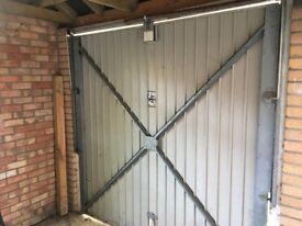 Free - Up and Over Single metal garage door