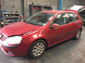 Vw golf mk5 red 1.9 tdi 105bhp bkc breaking spare parts
