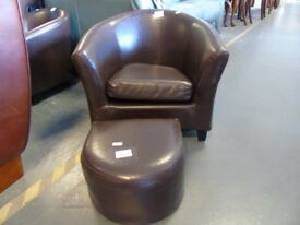Children's Leather Armchairs & Footstools