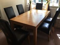DINING TABLE WITH 6 FREE CHAIRS