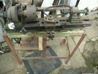 20s metal working lathe stand and motor