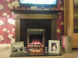 Cast Iron Fireplace and surround and Fire