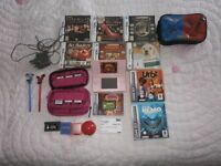 NINTENDO DS LITE (CORAL PINK) WITH GAMES BUNDLE AND A CINEWORLD CINEMA TICKET
