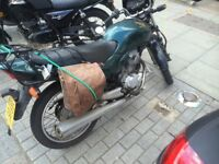 Custom Green Honda CG 125cc (inc side bag) can deliver in London