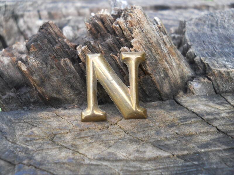 Rare Original Vintage Antique Civil War Relic Company Letter N Brass Lead Filled