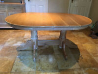 Dining Table in lime washed oak