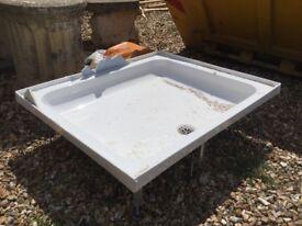 Shower tray, 750 mm x900mm
