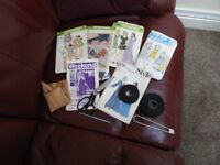 Sewing bundle of accessories including patches of leather material