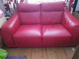 Red csl 3 seater sofa