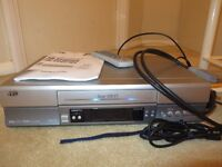 JVC S5967 VHS Nicam Video casette recorder retro silver– instructions & remote PLUS videos man cave